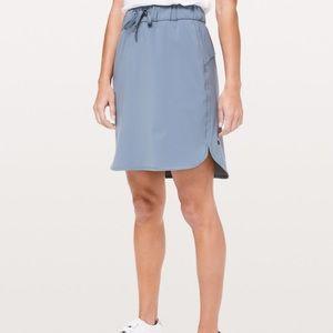 Lululemon On the Fly Skirt Blue Charcoal 12